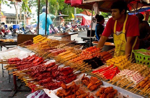 Рыное еды в Тайланде