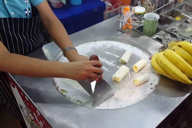 Жареное мороженое в Тайланде