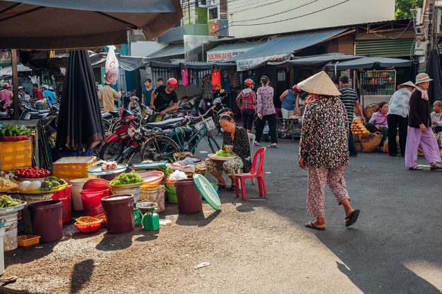 Район рынка Xom Moi