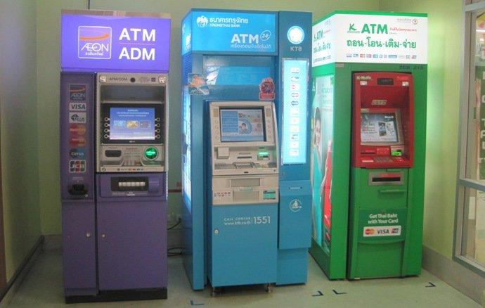 Банкоматы в Тайланде