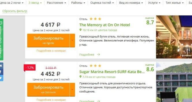 Сайты бронирования отелей в тайланде