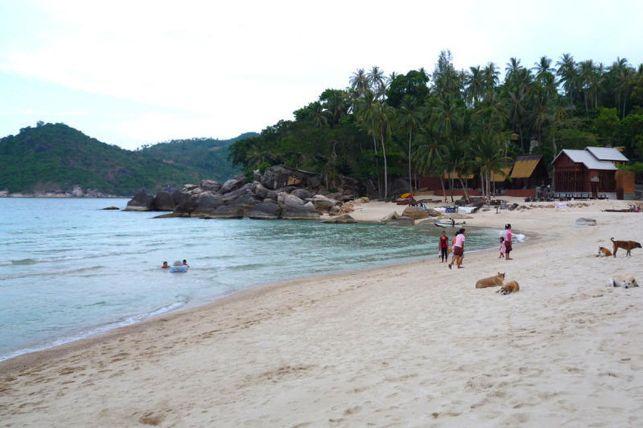 Пляж Тонг Най Пан на Пангане