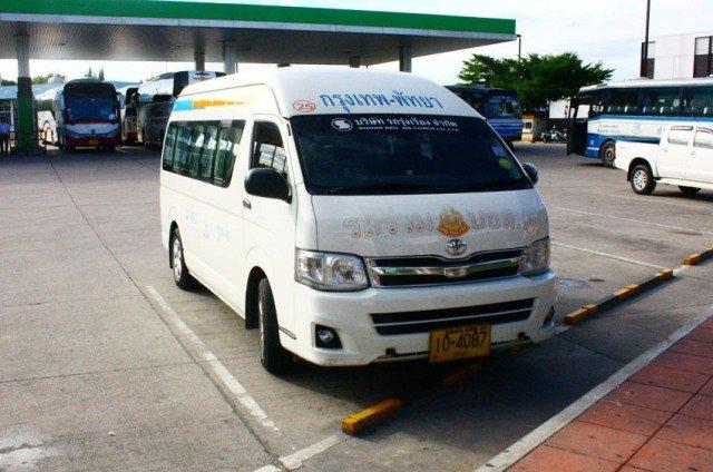 Как добраться из Паттайи до Хуа Хина на минибасе