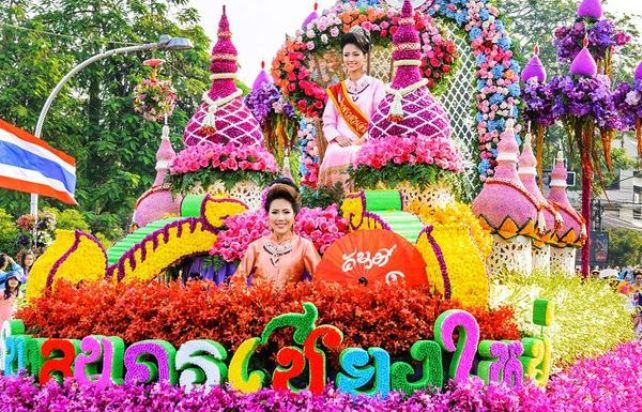 Фестиваль цветов в Тайланде