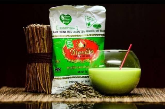 Молочный зеленый чай из Тайланда