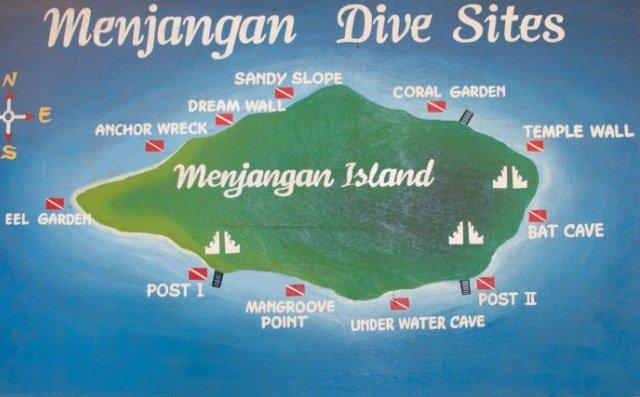 Остров Менджанган